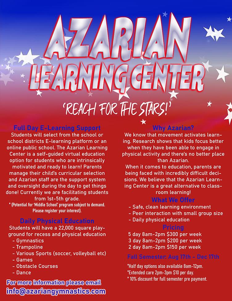Azarian-Learning-Center-Flyer